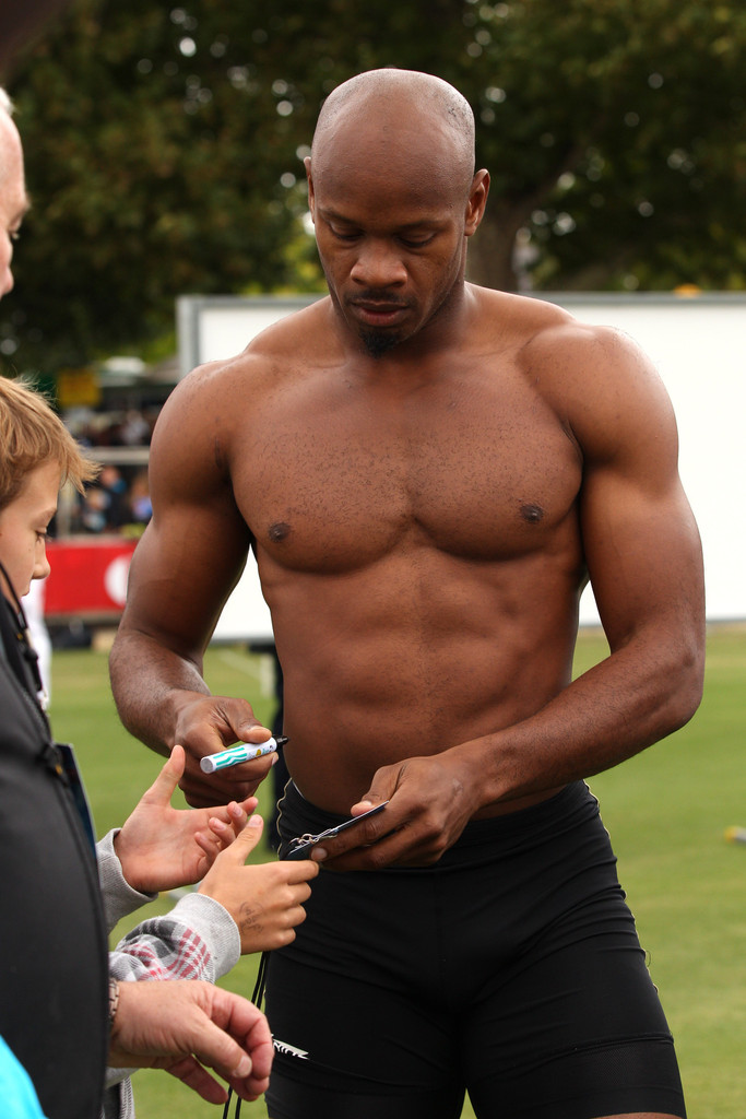 Asafa Powell Shirtless